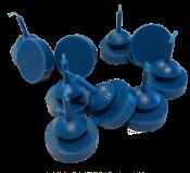 000-021-992U - BIN BUMPER BLUE URETHANE WITH PULL THROUGH BG10