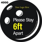 PPE400G - FLOOR LABEL PK10